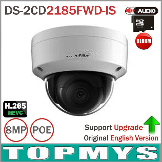 Free Shipping DS-2CD2185FWD-IS 8MP Network Dome Camera H.265 Updatable CCTV Camera With Audio and Alarm Interface SD Card Slot change up intermediate teachers pack 1 audio cd 1 cd rom test maker
