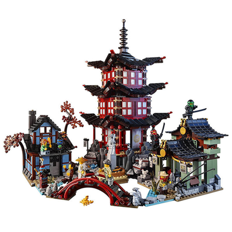 2150pcs Diy Figure Ninja Temple Of Airjitzu Building Blocks Compatible With Legoingly 70751 Bricks Toys For Children compatible ninja 70751 lepin 06022 2150pcs blocks ninja figure temple of airjitzu toys for children building bricks 70603 gifts