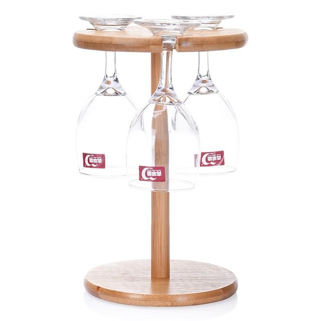 3 Locher Bambus Wein Becherhalter Tasse Rack Mode Becher Rack Home