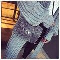 Moda Lingge Veludo Meninas Cadeia de Pequenos Sacos de Ombro Mensageiro Mulheres Sacos De Designer de Luxo Mulheres Saco Pacote Pequeno Saco de Verão