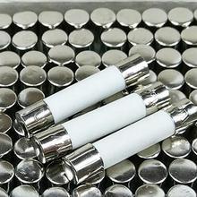 0.5A 1A 2A 3A 3.15A 4A 5A 6A 6.3A 7A 8A 10A 12A 15A 20A 25A 30A 250V 6*30 мм, увеличение 6х30 Керамика предохранителя x 100 шт