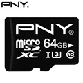 PNY MicroSD Memory Card High Speed 32GB 64GB Class10 UHS-1 U3 16GB U1 MicroSDHC/SDXC Micro Flash Mini TF SD Card For Smartphone