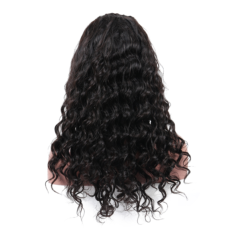 Pre Plucked Full Lace Human Hair Wigs With Baby Hair 180% Density Loose Wave Glueless Full Lace Wigs For Women Sunny Queen Remy