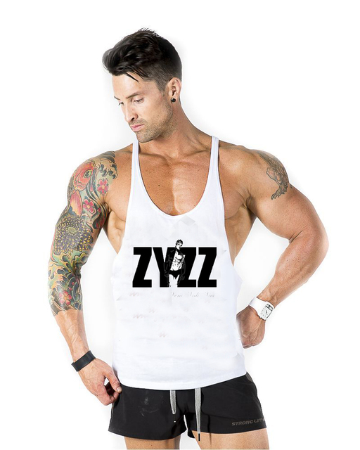 a82be9b602447 Golds Gym Tank Top Men bodybuilding Stringer Singlet Fitness Sleeveless  Shirt Muscle Vest Cotton GASP Racerback ZYZZ