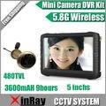 5.8 г беспроводной дверной глазок камеры с видеорегистратор, 100 м диапазон 90 град. VOA ; 5-inch экран, Движения запись, Xr-te850h