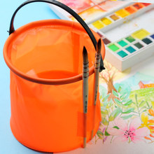 BGLN 1Piece Brush Washing Bucket High Quality Plastic Buckets Trumpet Shrink Wash Pen Barrel Art Supplies Random Color(China)