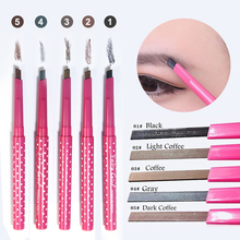 Eyebrow Pencil Long-lasting Waterproof+3 Eyebrow Shaping Stencils Makeup Kit
