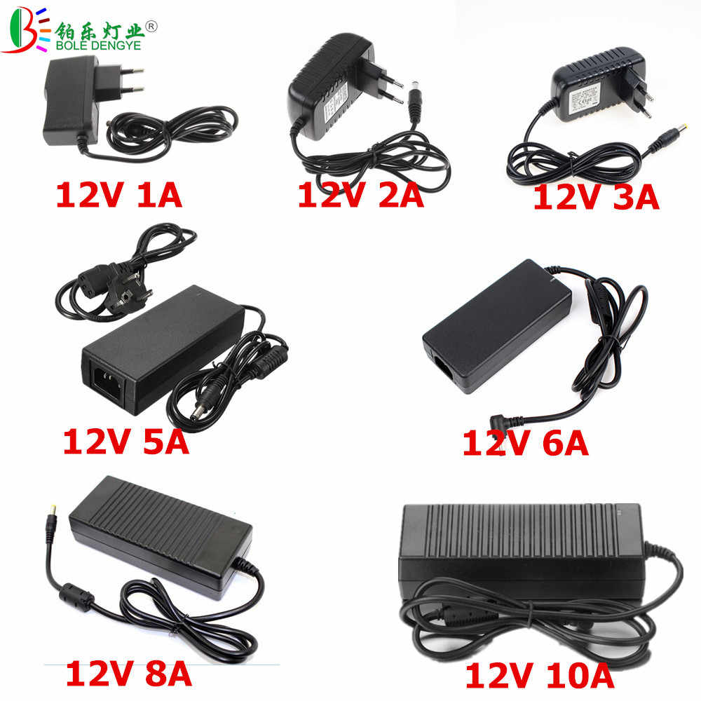 BOLEDEGNYE LED Power Adapter AC 220 V Ke DC 12 V 1A 2A 3A 5A 6A 8A 10A Driver LED Tegangan Rendah LED Transformer Untuk LED Strip CCTV