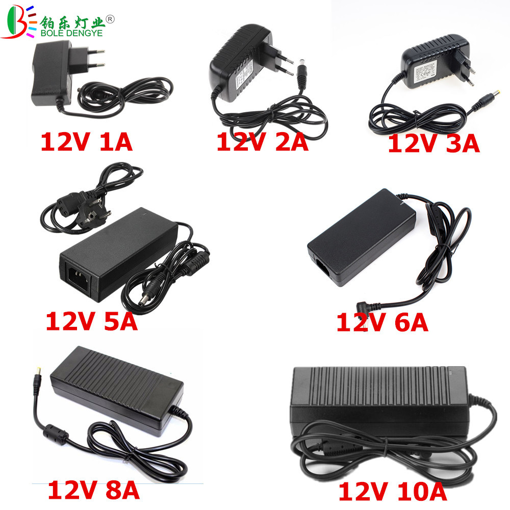BOLEDEGNYE LED Power Adapter AC 220V To DC 12V 1A 2A 3A 5A 6A 8A 10A LED Driver Low Voltage LED Transformer For LED Strip CCTV ...