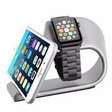 2 в 1 Алюминий сплав мобильного телефона стоят часы зарядки док станции держатель для Apple iwatch iPhone 5S SE 6 6 s 7 8 плюс