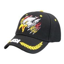 Winfox High Quality Black Navy Trucker Cap Gorras Baseball Cap Men Women Eagle Snapback Dad Hat Bone Outdoor Casual Sun Golf Hat