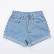 Women Shorts 51%-70% Cotton Mid  New Slim Fashionable And Comfortable Shorts For Women In 2019 Size 26-32 HJH цена