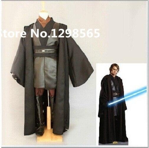Pulsuz çatdırılma Star Wars Anakin Skywalker Cosplay Costume Black - Karnaval kostyumlar - Fotoqrafiya 2