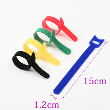 1000pcs 5 Colors can choose Magic tape wiring harness/tapes Cable ties/Tie cord Computer cable Earphone Winder ties DIY