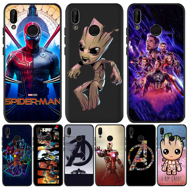 Marvel Groot Avengers For Huawei P8 P10 P20 P30 Mate 10 20 Honor 8 8X 8C 9 V20 10 Lite Plus Pro Case Cover Coque Etui Funda cute image