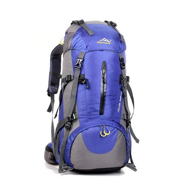Imperméable voyage randonnée sac à dos 50L sac de sport pour femmes hommes en plein air Camping escalade sac alpinisme sac à dos 2018 nouveau 369