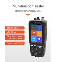 Fiber Optic OTDR Reflectometer with OPM VFL OLS Functions and Optional Touch Screen