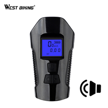 WEST BIKING Bicycle Bell 3 IN 1 USB Recharge Waterproof Speaker Bike Computer Stopwatch Light Lamp Alarm Horn