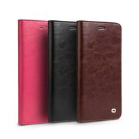 8 Pcs Brown Crazy Horse Classic Series Genuine Cow Leather Flip Type Mobile Phone Case Protective Cover For iPhone7/8