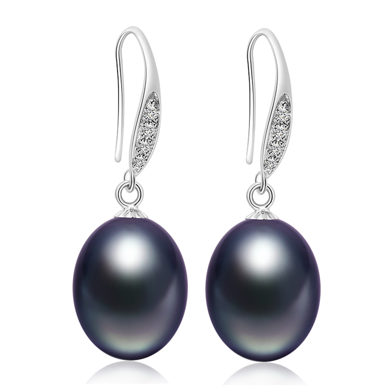 Freshwater Pearl font b Earring b font with Drop font b Earrings b font 9mm Pearls