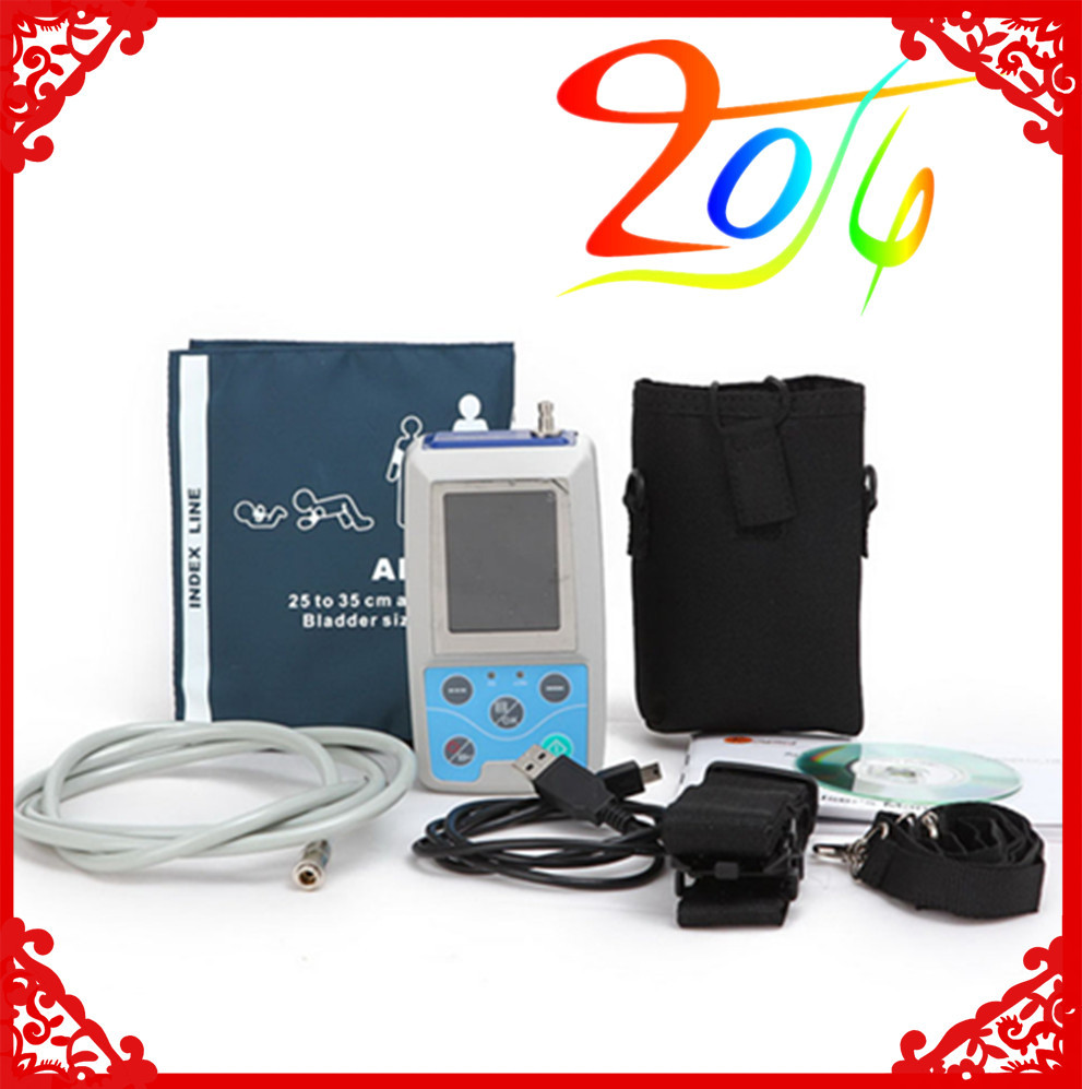 Color Big LCD Ambulatory Blood Pressure Monitor+Automatic 24h BP measurement RM-ABPM2 2017 NEW cm50tu 24h new