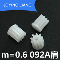 092A Shoulder 0.6M Pinions 9 Tooth Plastic Gear Tight for 2mm Motor Shaft Modulus 0.6 Toy Accessories 5000pcs/bag