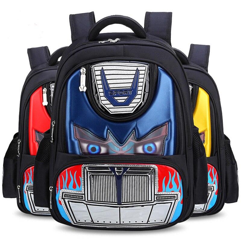 2018 Sport Fire Led Eye Car Girl Baby Children Nursery Kindergarten School Bag Bagpack Schoolbags Canvas Kids Student Backpacks