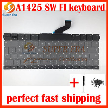 "Finnish Swedish keyboard for macbook pro 13"" retina A1425 FI SW SD keyboard without backlight late 2012 early 2013year"