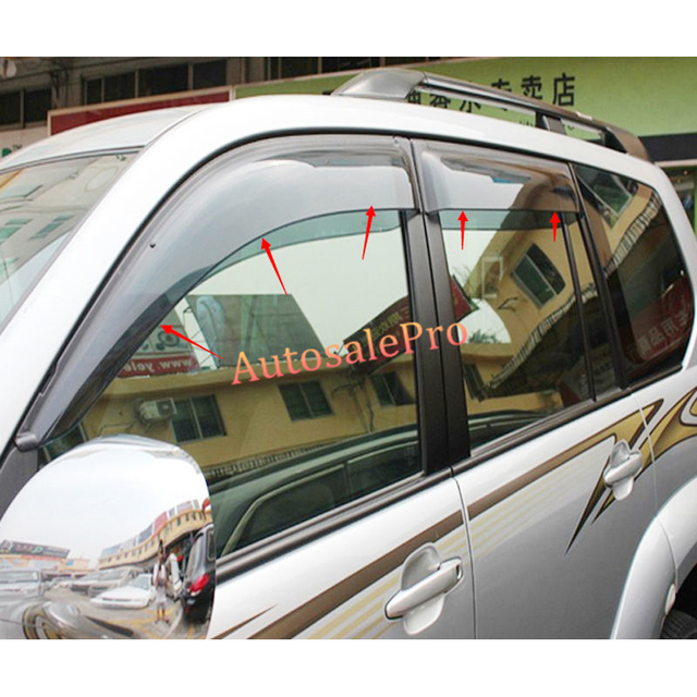4 Door Window Visor Vent Shades Sun Rain Guard Deflector For Toyota Prado  Fj120 2003 2004