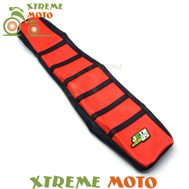 Red Gripper Soft Seat Cover For Suzuki RM125 RM250 RM 125 250 01-08 Motorcycle Motocross Supermoto Dirt Bike Off Road Enduro dwcx motorcycle adjustable chain tensioner bolt on roller motocross for harley honda dirt street bike atv banshee suzuki chopper