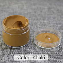 khaki - Leather coloring paste,leather bag,sofa, shoe,clothing,refurbished to change color, handsel a sponge rub and gloves