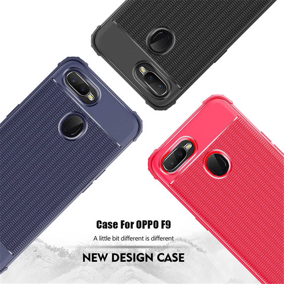 Luxury heat dissipation TPU Matte Back Armor Case For OPPO A83 F5 Young F3  F7 A59 F1S A5 A3S F9 A73S Cover Silicone Phone Cases