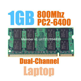 MLLSE New Sealed SODIMM DDR2 800Mhz 1GB PC2-6400 memory for Laptop RAM,good quality!compatible with all motherboard!