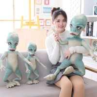 Nouveau 60-100cm ET Alien peluche en coton doux farci l'extra-terrestre drôle poupée enfant enfants réaliste cadeau de haute qualité
