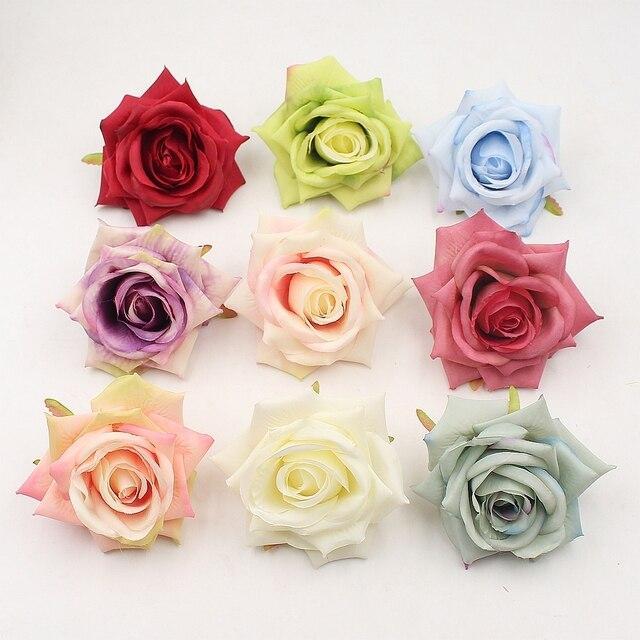 2pcs 9cm rose artificial flowers for wedding decoration cloth 2pcs 9cm rose artificial flowers for wedding decoration cloth apparel sewing needlework arts diy craft supplies mightylinksfo