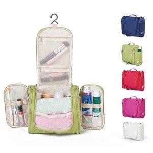 Image 1 - Foldable Travel Storage Oxford Bath Waterproof Wash Bag Home   Organizer Female Mens Multi Function Hanging Hook Package