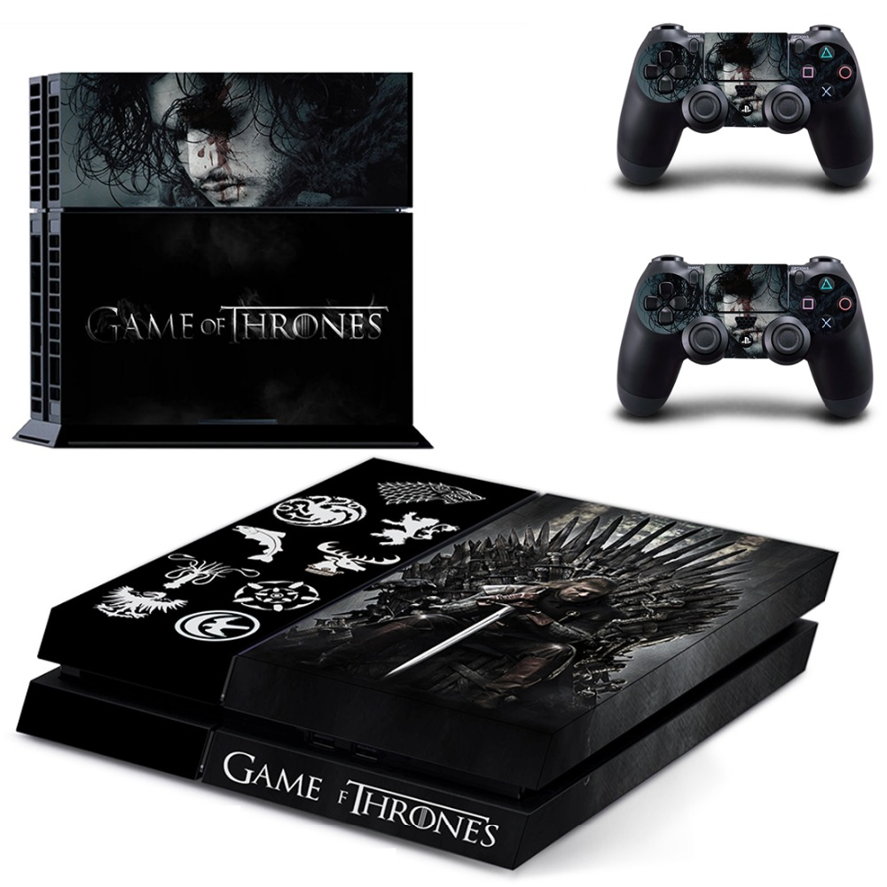PS4 Game Thrones Skin Decal Sticker For PlayStation4 Console and 2 controller skins