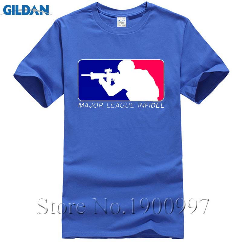 Major League Infidel T Shirt White S-3XL, Marines Army Navy Special Ops Military Men's Summer Fashion Graphics Euro Tee Shirt