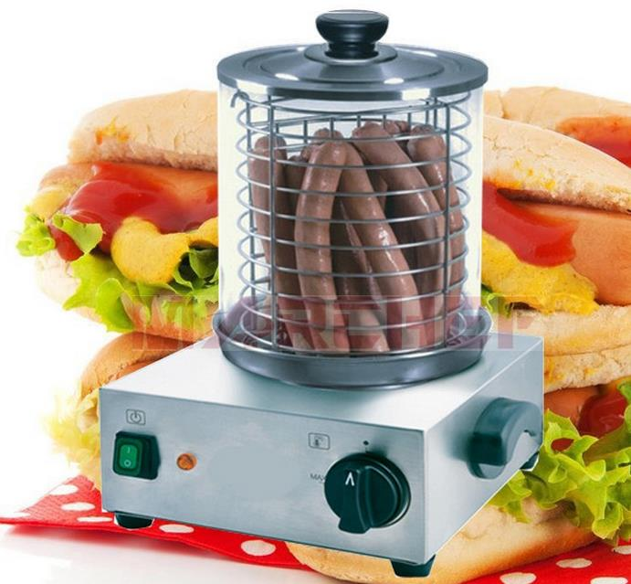Free shipping Electric Hotdog Cooker (multifunctional ) Hot dog baked bread baking machine 220v 600w 1 2l portable multi cooker mini electric hot pot stainless steel inner electric cooker with steam lattice for students