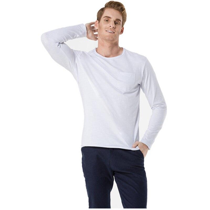 Нижнее белье ICPANS, хлопковое нижнее белье с длинным рукавом для мужчин, черно-белое нижнее белье с треугольным вырезом, весенне-осенняя футбо...