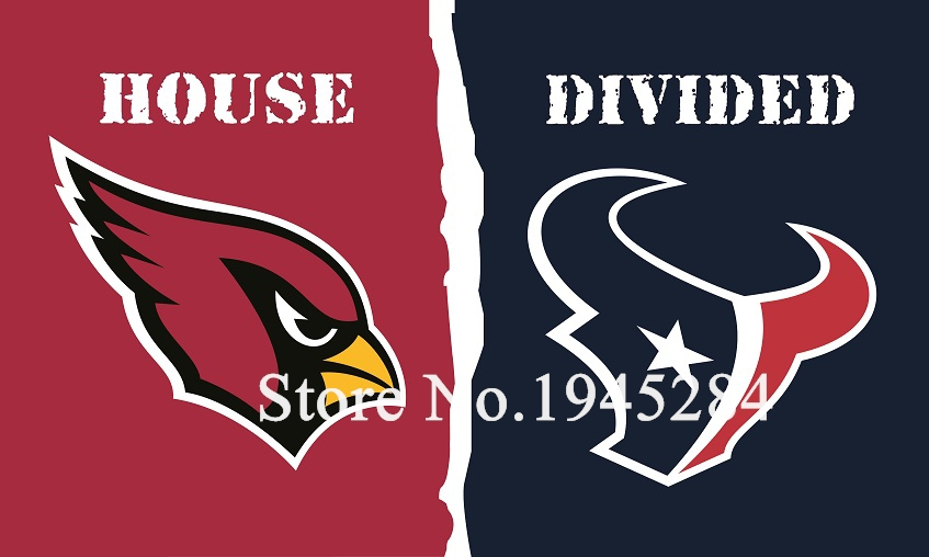 NFL Arizona Cardinals Houston Texans House Divided Flag 3x5ft 150x90cm Polyester Flag Banner, free shipping