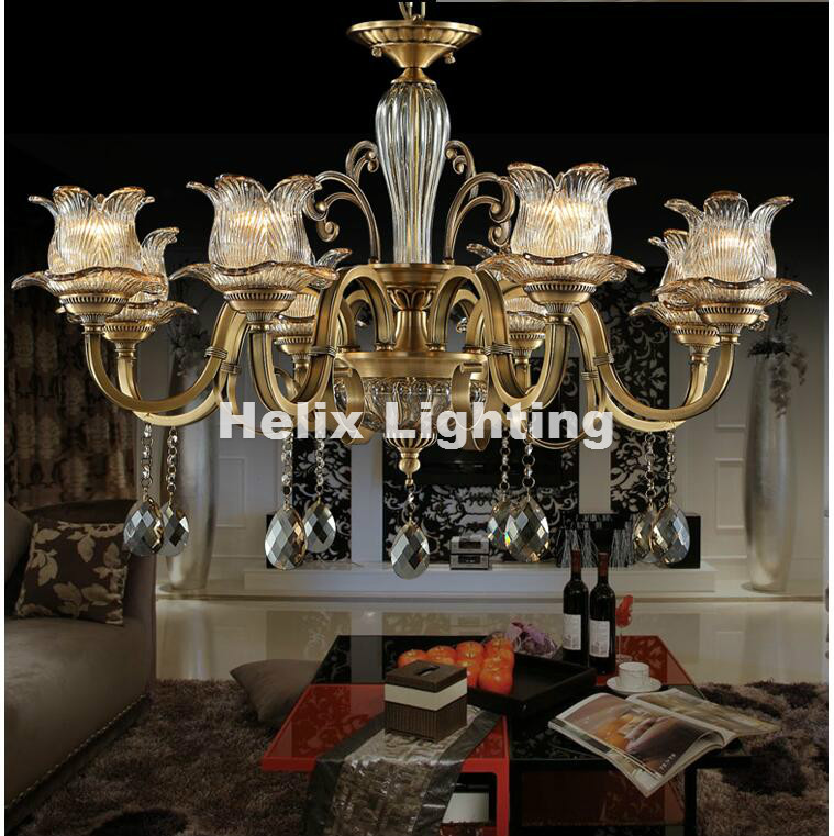 Newly Antique Crystal Chandelier Lingting Luxurious Metal Brass Color Crystal Lamp Lustre Suspension E14 LED Light Résultat Supérieur 15 Frais Lustre Suspension Metal Photos 2017 Phe2