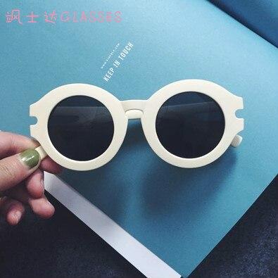 8faa7e938fc0b Plástico redondo moda shades óculos estilo óculos de sol círculo mulheres  verão branco amarelo coreano em Óculos de sol de Acessórios de vestuário no  ...