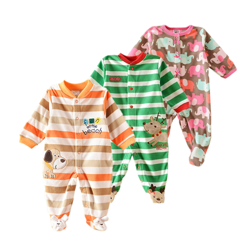 2018 baby rompers baby clothes overalls for baby boy clothes Fleece newborn girl Clothes Babies Romper Jumpsuit