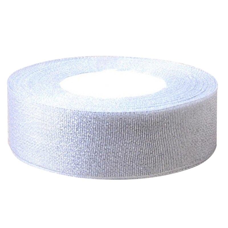 1 рулон шелковой атласной ленты для Свадебная вечеринка ширина 25 мм длиной 25 ярдов около 22 м серебро