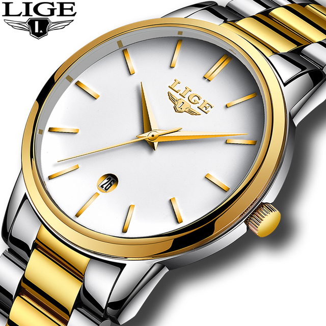 LIGE Fashion Casual Brand Waterproof Quartz Watch Men Military Stainless Steel Sport Watches Man  Relogio Masculino+Gift Boxes