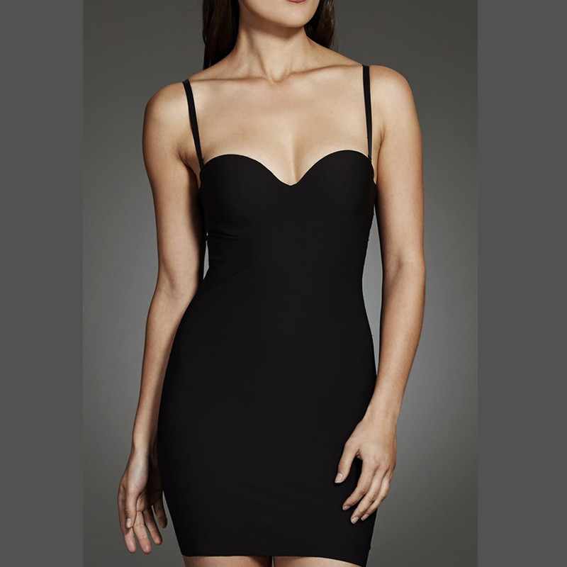 a52e5b5b52a8e Women s Sculpt Strapless Contour Bra Slip Dress Sexy Smooth Seamless  Shapewear