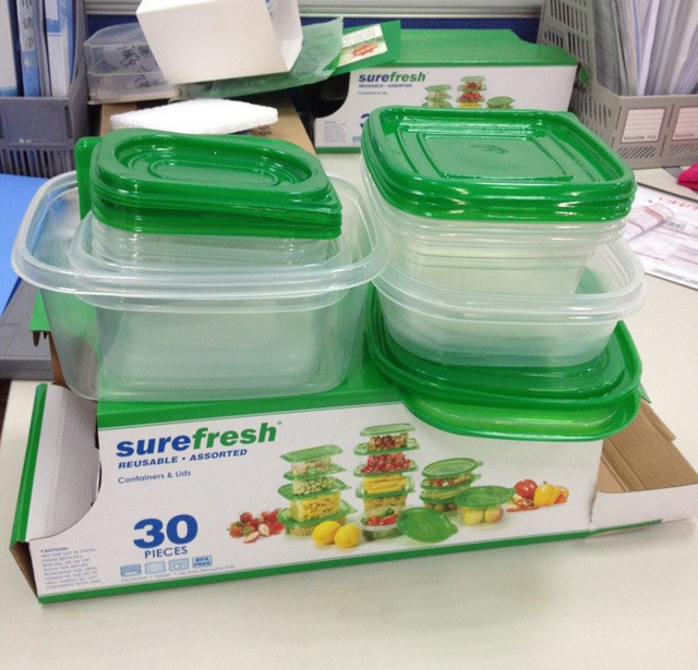 Free shipping 30Pcsset Reusable Plastic Food Storage Containers Set