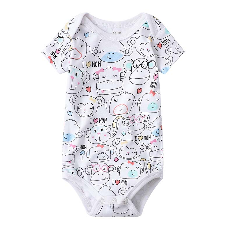 Babies Girls Clothing Bodysuit Newborn Baby Boys Short Sleeve Body 3 6 9 12 18 24 Months Summer Clothes