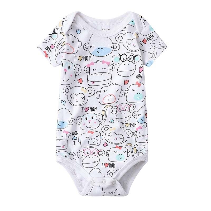 Babies Girls Clothing Bodysuit Newborn Baby Boys Short Sleeve Body 3 6 9 12 18 24 Months Summer Clothes